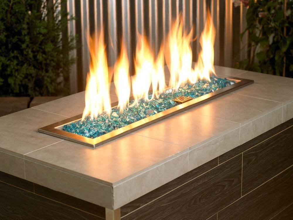Buy 1 2 Quot Azuria Fire Glass Outdoor Fire And Patio
