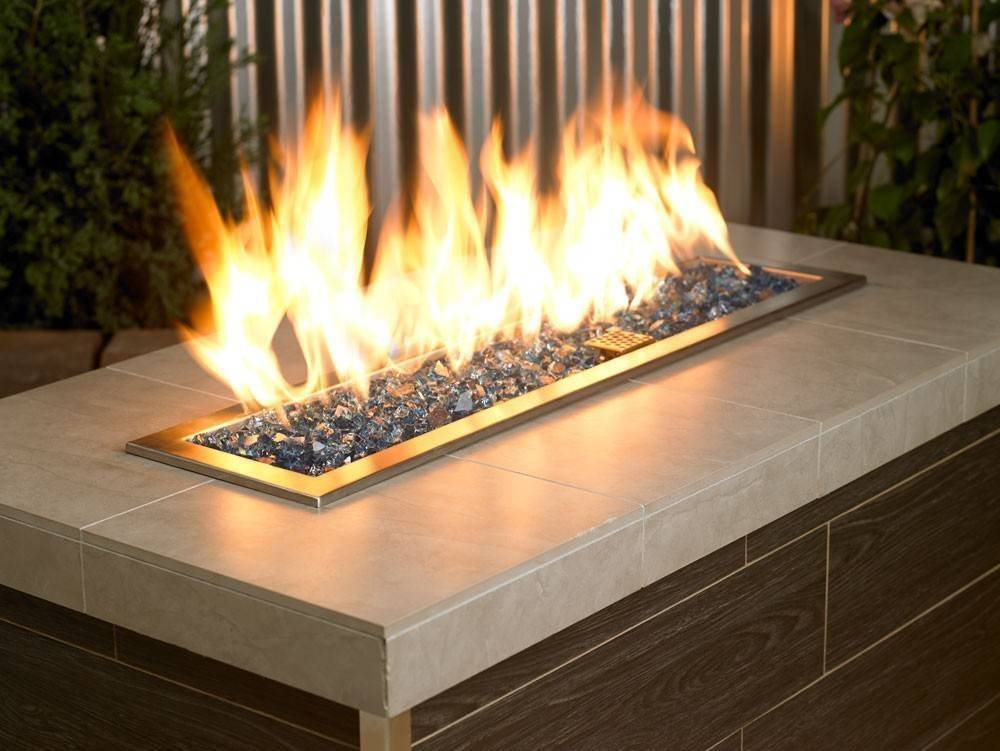 1 2 Quot Pacific Blue Reflective Fire Glass Outdoor Fire And