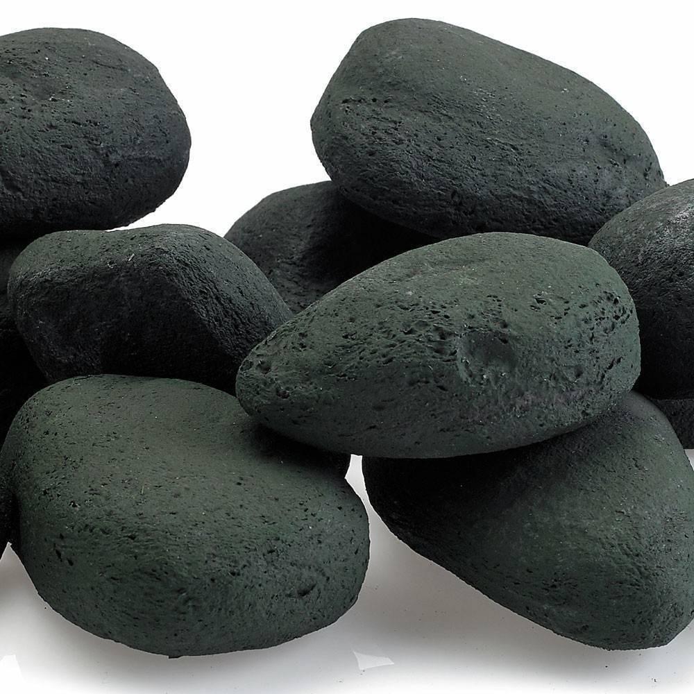Matte Black Lite Stones Set 15 Stone Set Fire Pit