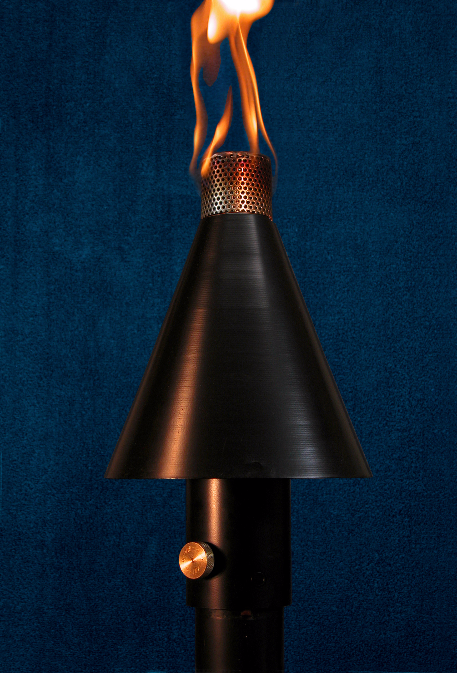 Black Cone Tiki Torch Manual Light