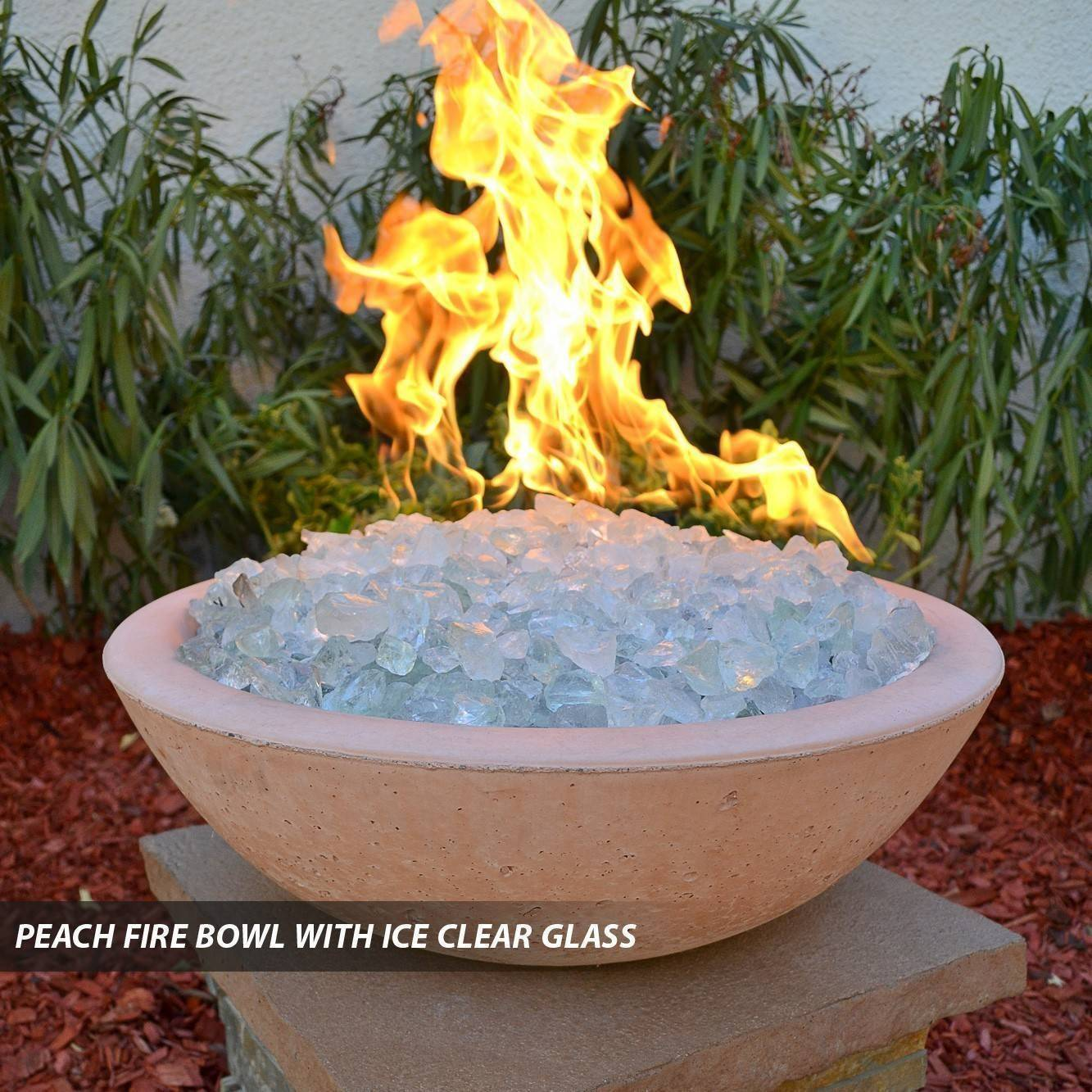 Concrete Pool Fire Bowl Round With Scupper 39 Quot Pool Fire