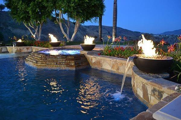 30 Quot Luxe Pool Fire Bowl Outdoor Fire And Patio