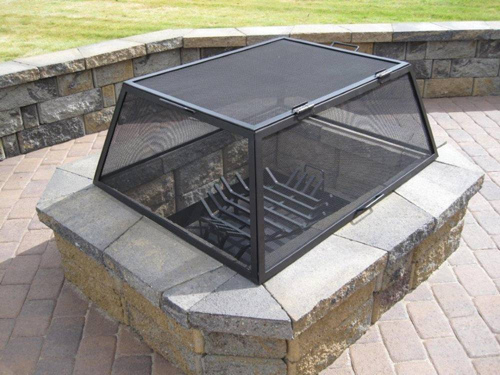 Rectangular Fire Pit Screen Amp Fire Pit Mesh Covers