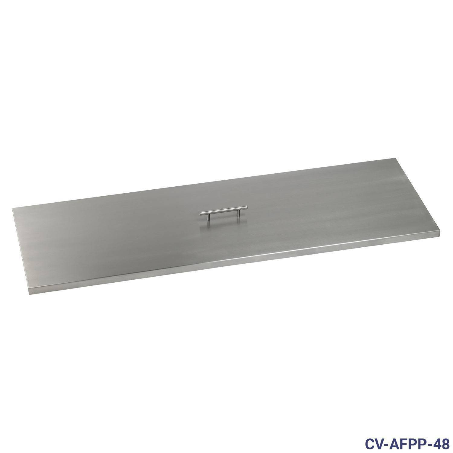 """21"""" x 9"""" x 1.5"""" American FIreglass Stainless Steel Fire Pit Cover"""