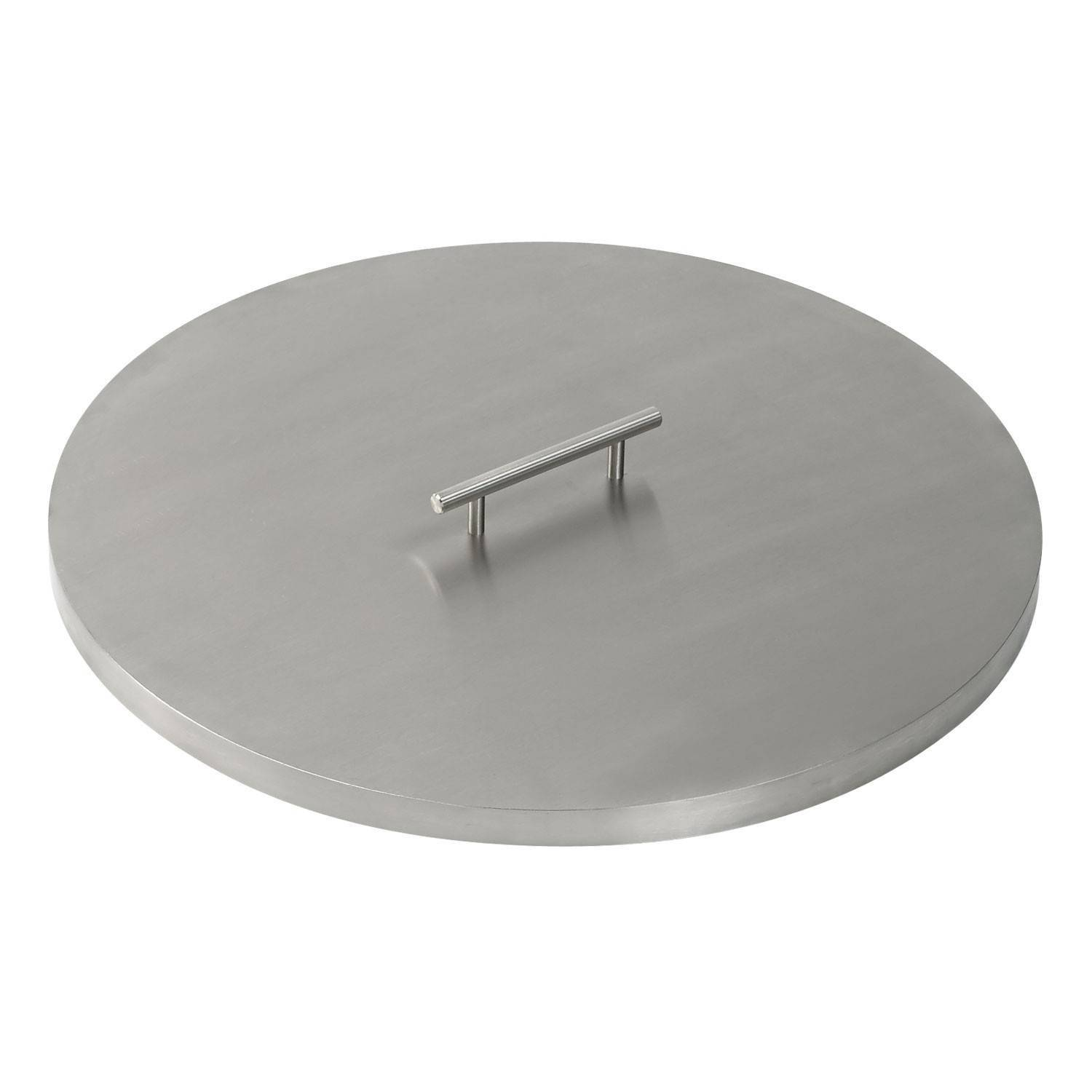 "19"" American Fireglass Stainless Steel Round Cover"