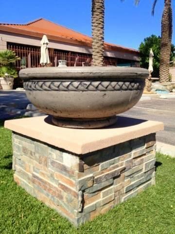 """Concrete Fire Bowl Roman 36"""""""