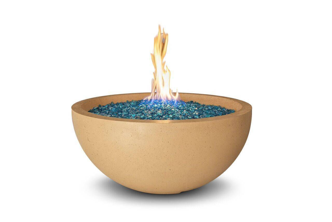"Concrete Fire Bowl 36""  Elevated"