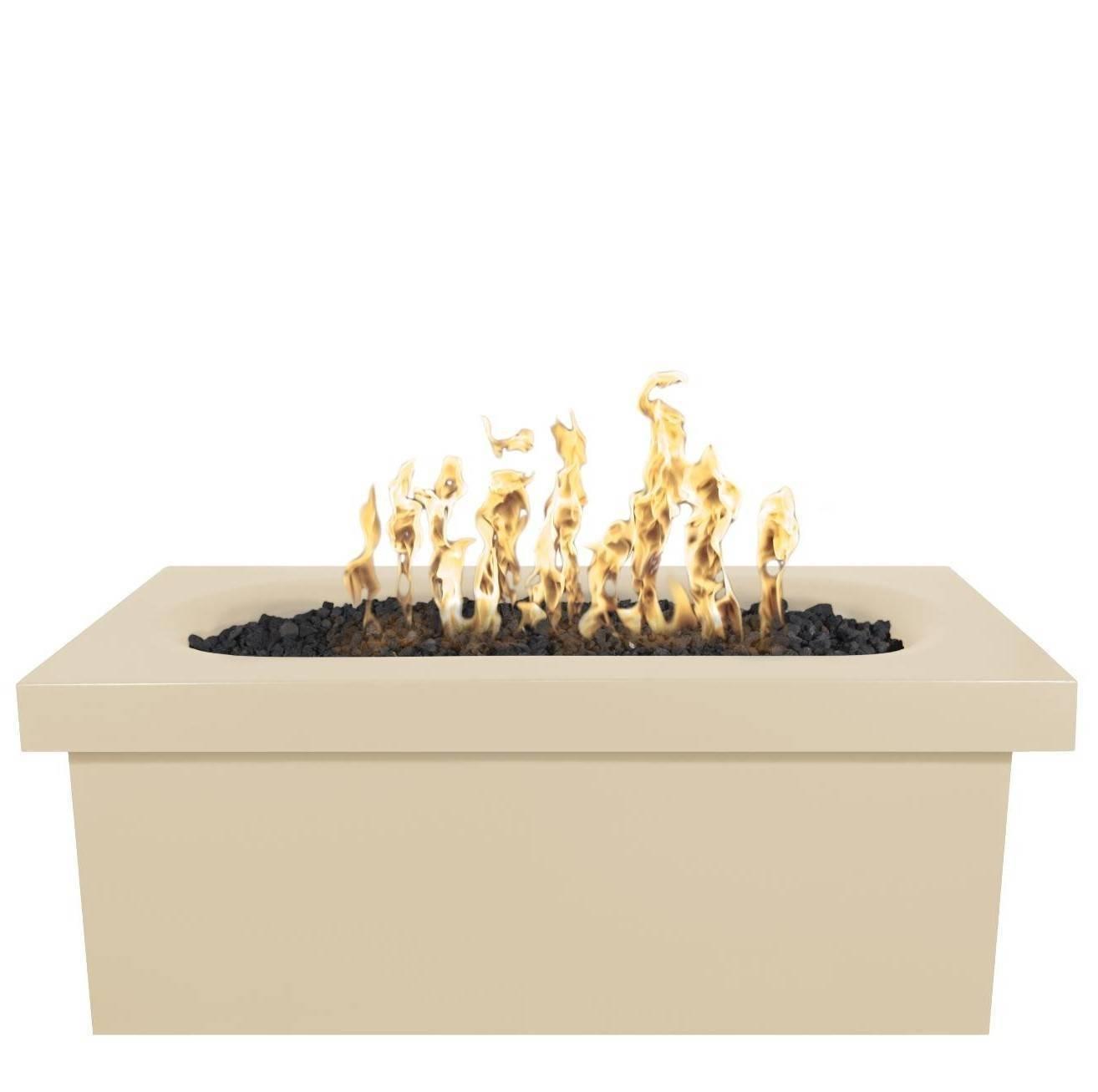 """60"""" Ramona Concrete Fire Pit Table - Vanilla"""