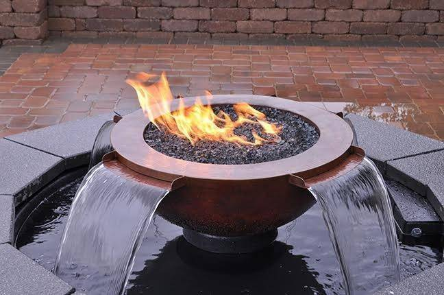 H2OnFire. FIRE ON WATER. Hammered Copper 360
