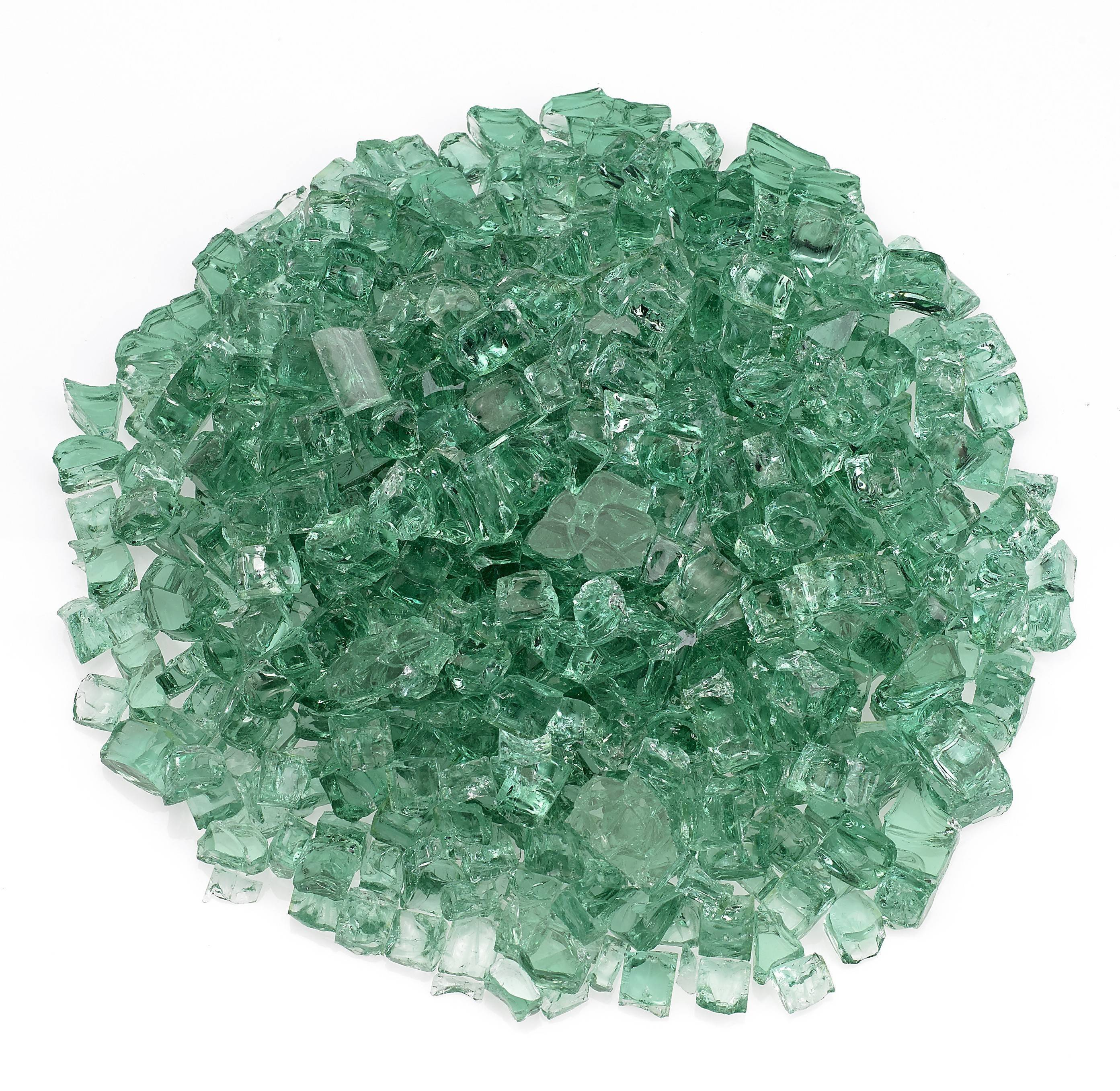 "1/2"" Evergreen Fire Glass"