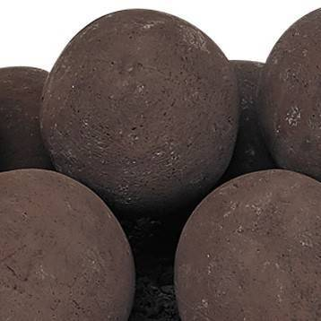 "Cherry Bark Lite Stone Ball Set 4"" Uniformed Sets 