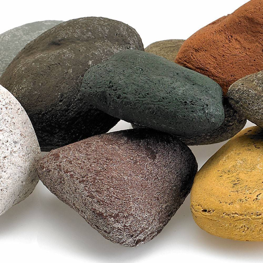 Beach Pebble Lite Stones Set - 15 Stone Set