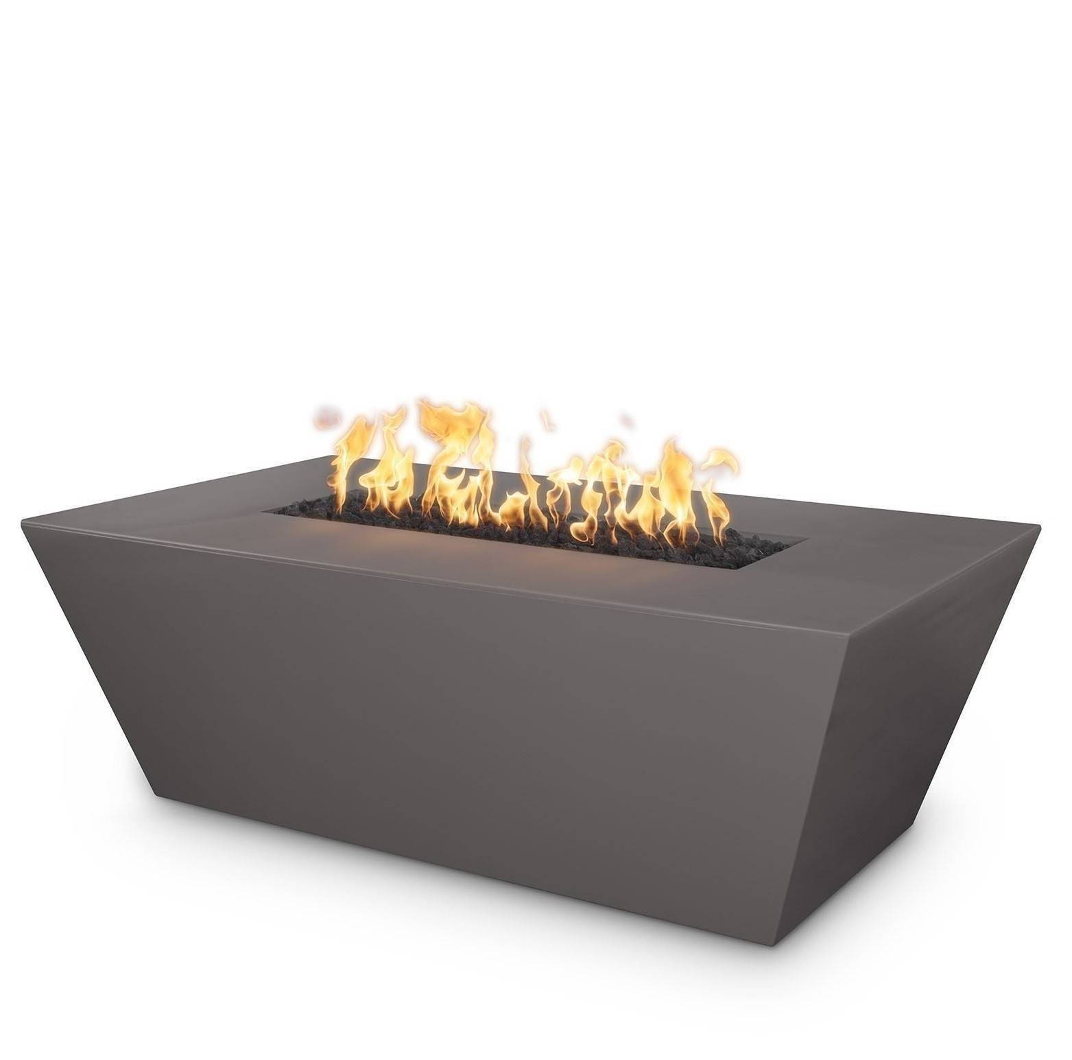 "60"" Angelus Concrete Fire Pit Table - Chestnut"