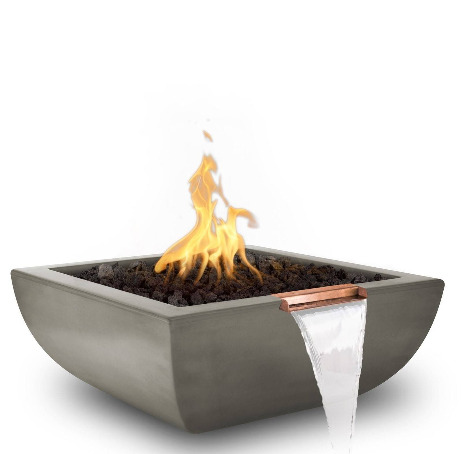 "36"" Avalon Pool Fire and Water Bowl - Ash"