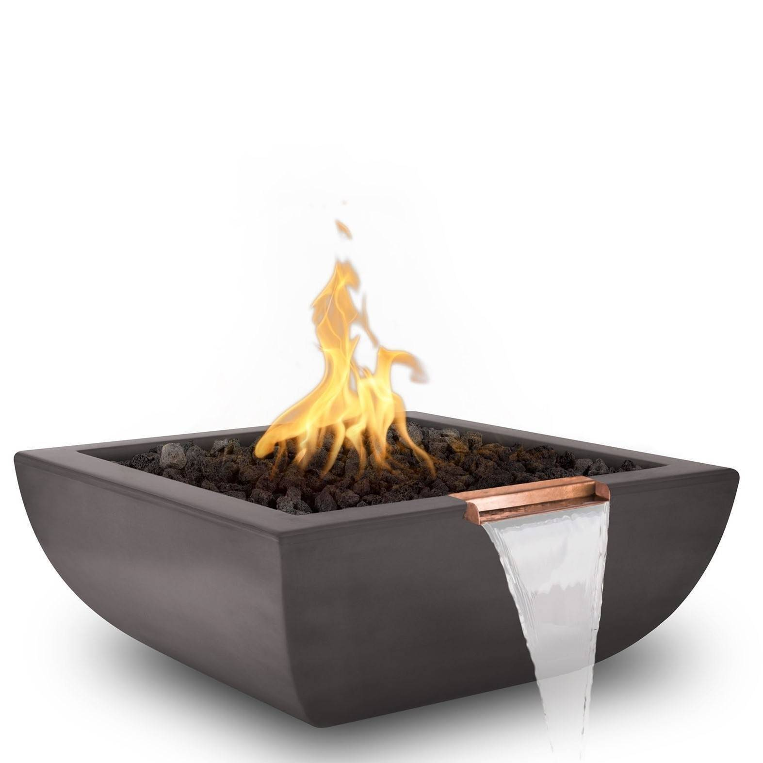 "30"" Avalon Pool Fire and Water Bowl - Chestnut"