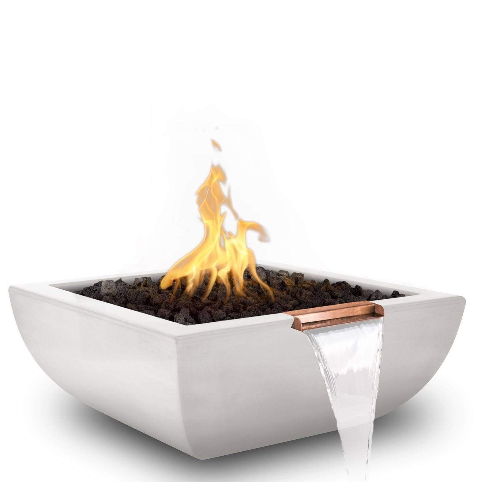 "24"" Avalon Pool Fire and Water Bowl - Limestone"