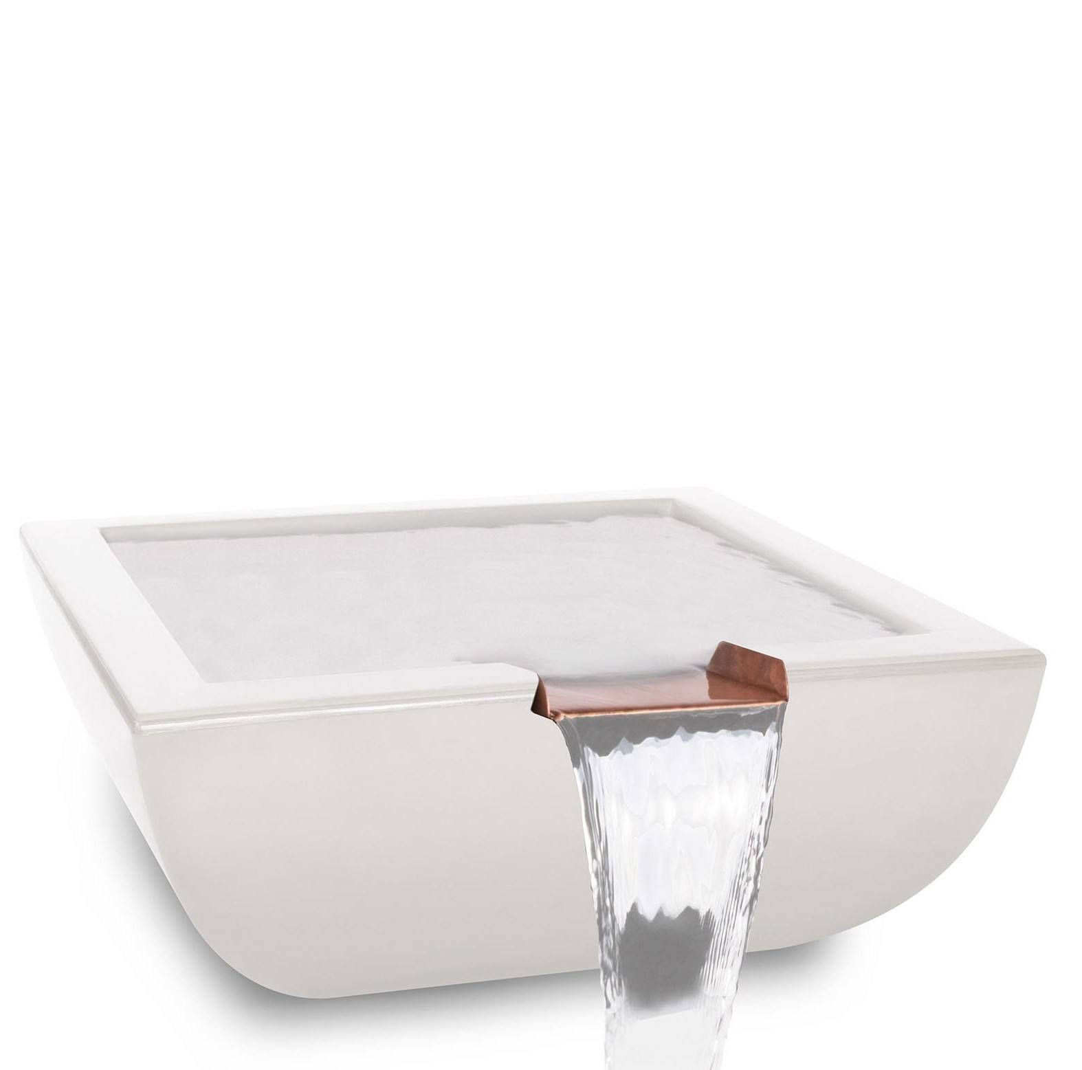 "24"" Avalon Pool Water Bowl - White"