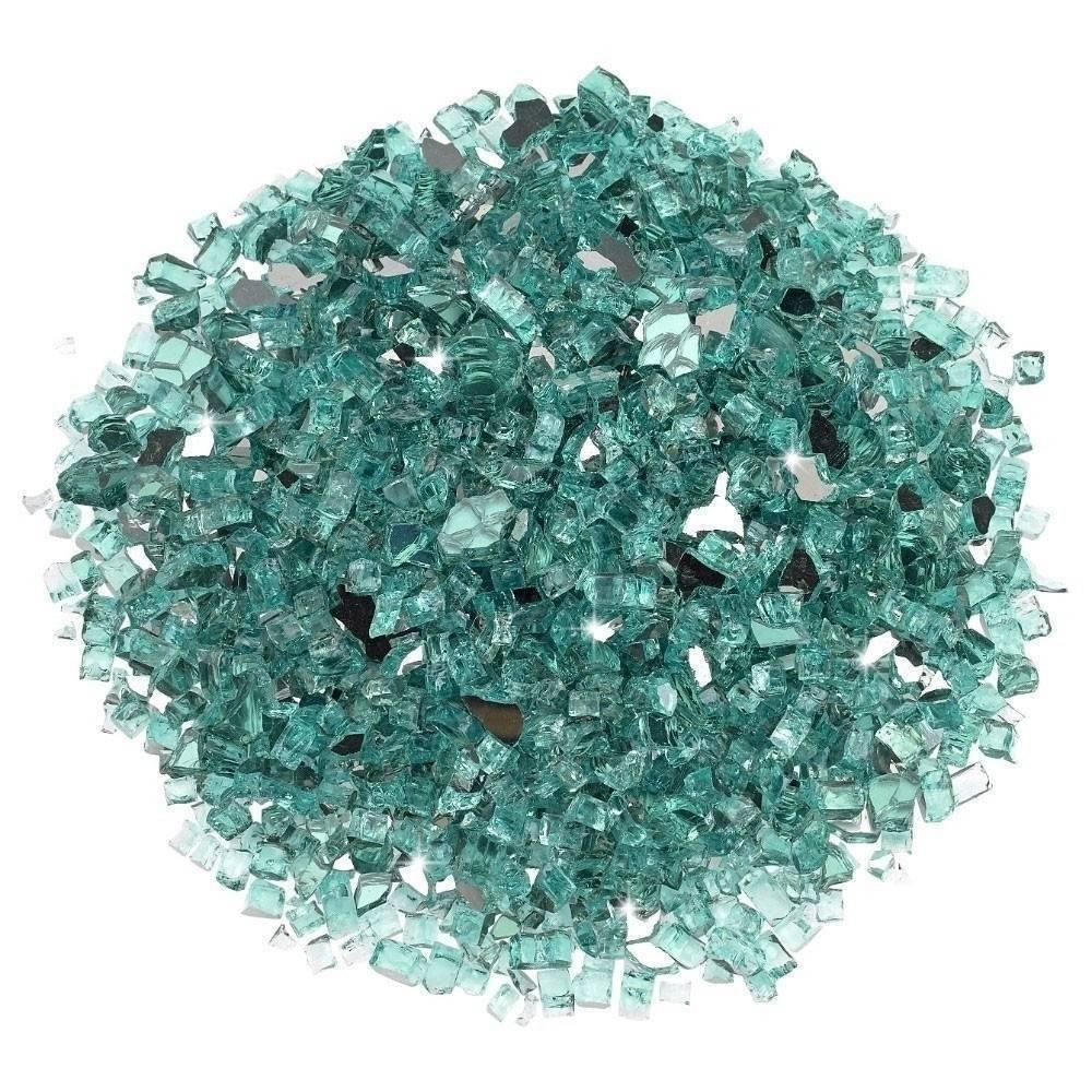 "1/4"" Azuria Reflective Fire Glass Top"