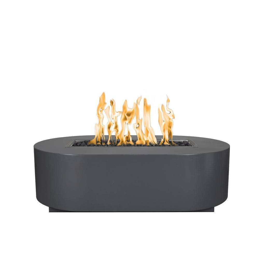 "60"" Bispo Steel Fire Pit Table - Powder Coated Gray"