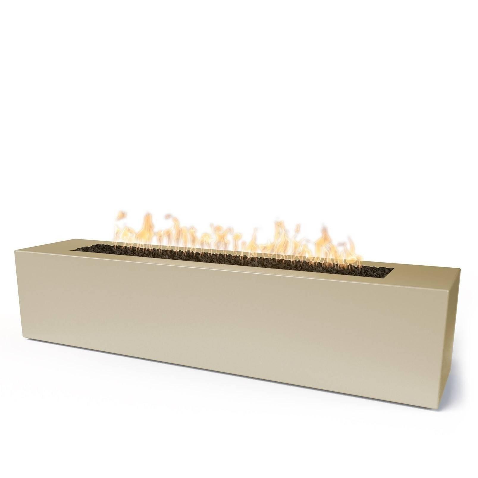 "56"" x 16"" Carmen Concrete Fire Pit Table - Vanilla"