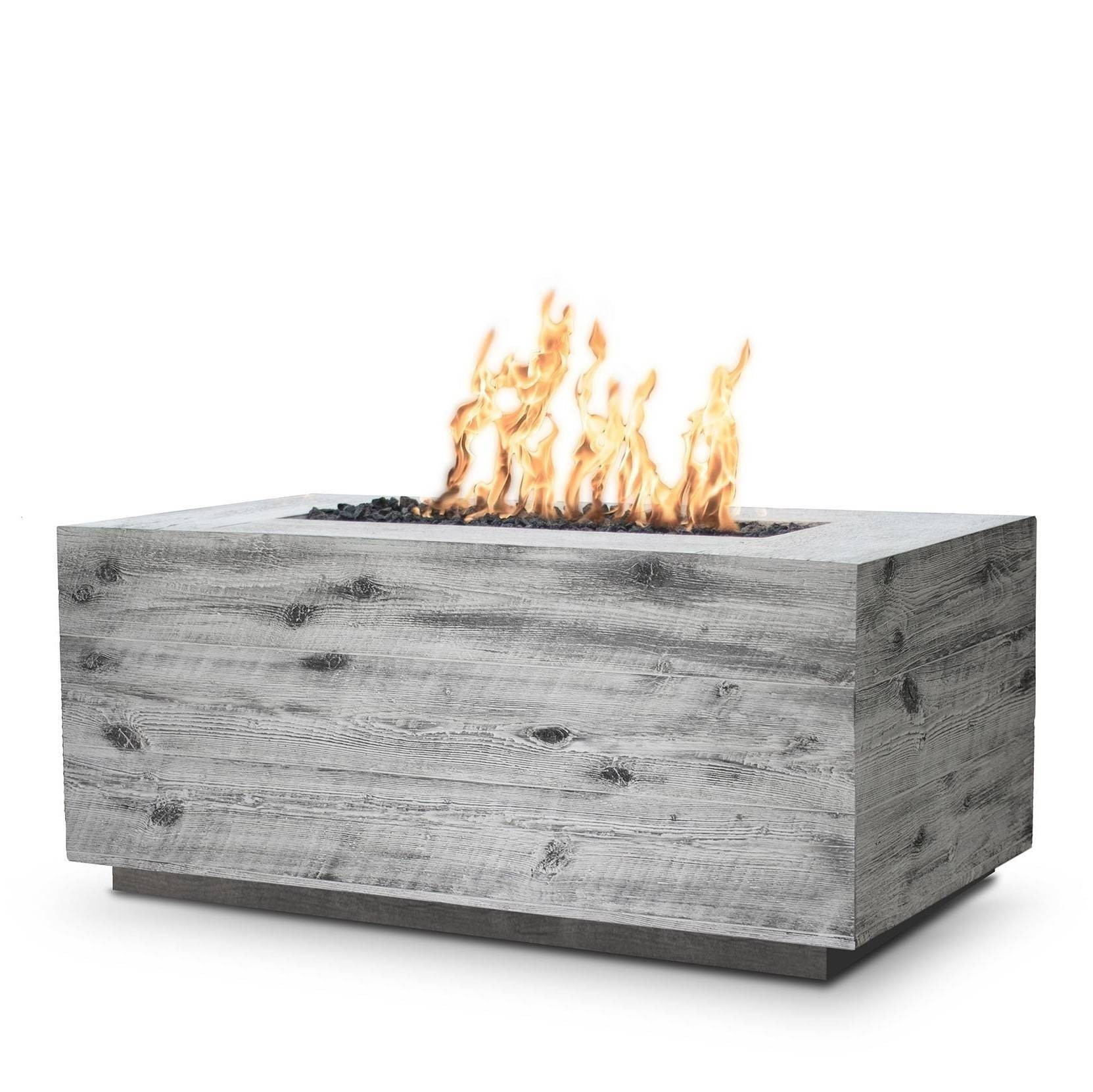 "48"" Catalina Wood Grain Concrete Fire Pit Table - Ivory"