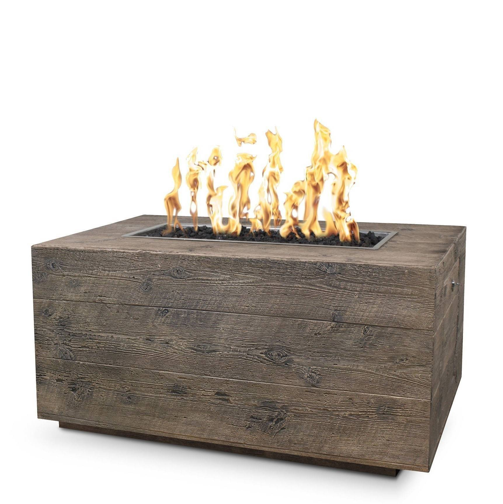 "48"" Catalina Wood Grain Concrete Fire Pit Table - Oak"