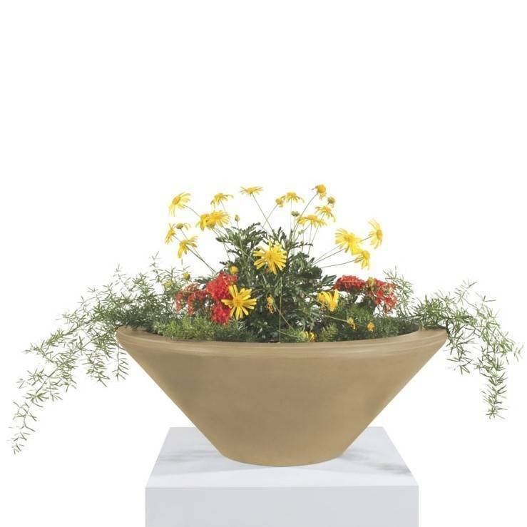 "31"" Cazo Planter Bowl - Brown"