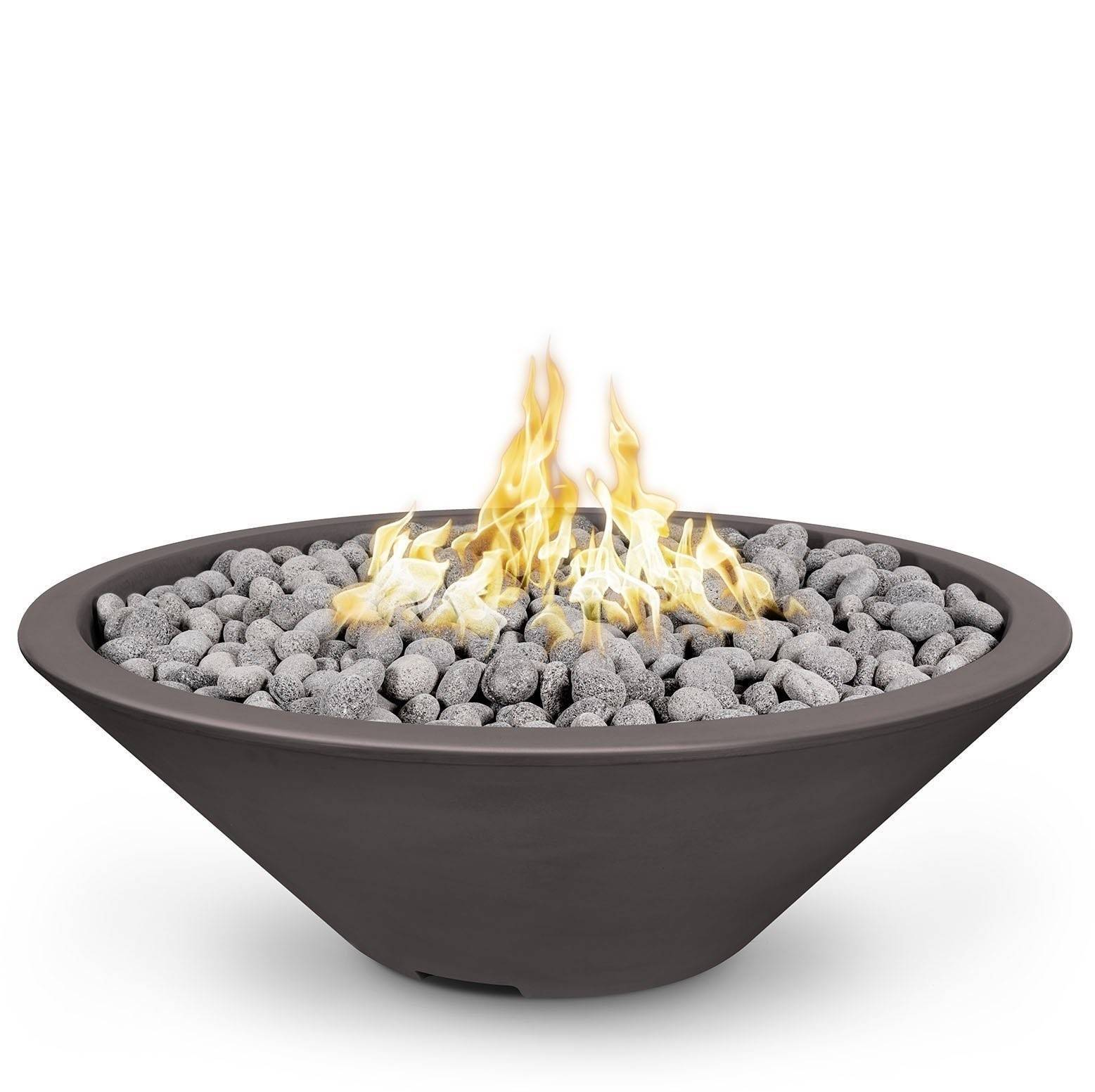 "60"" Cazo Fire Pit Table Thin Rim - Chestnut"