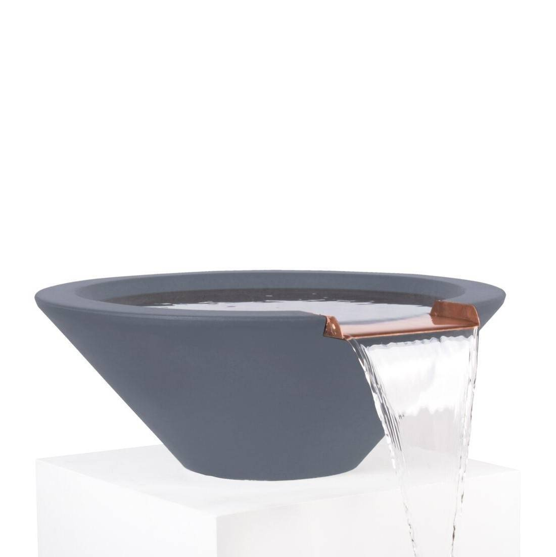 "31"" Cazo Pool Water Bowl - Grey"