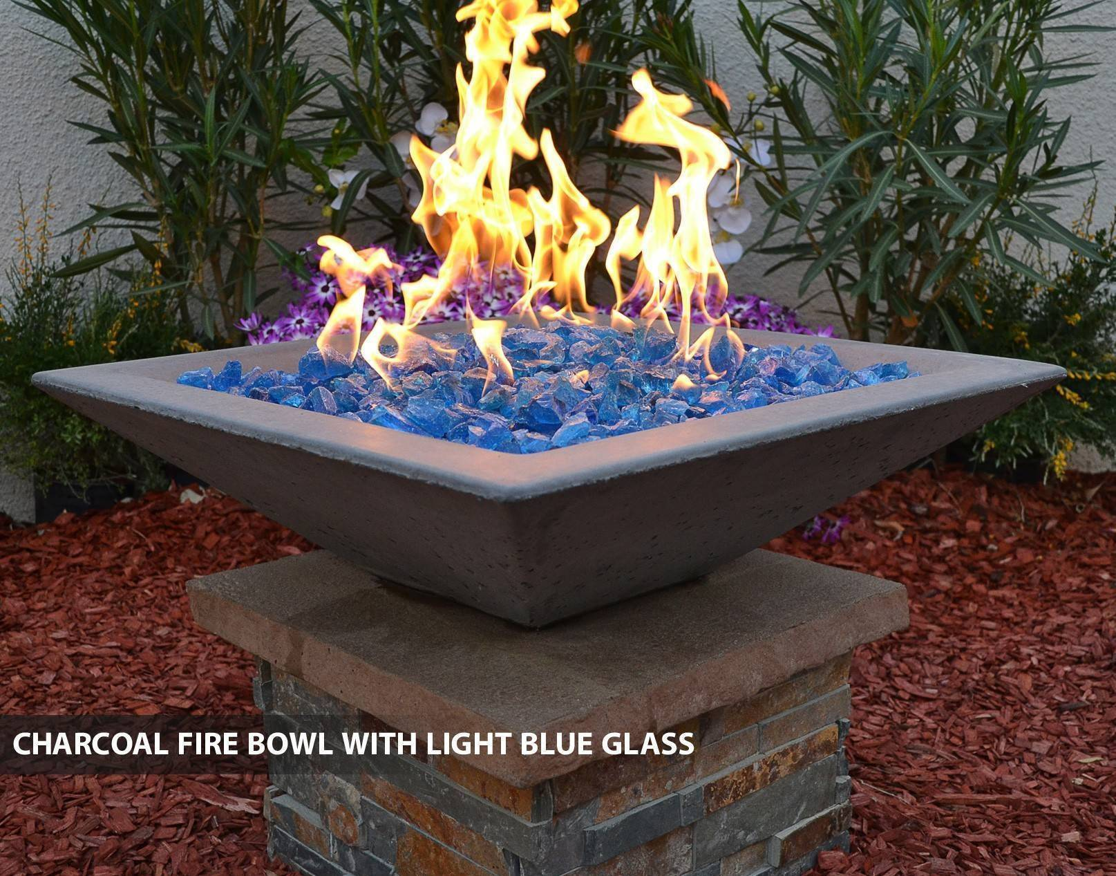 Concrete Pool Fire Bowl Square With Scupper 24