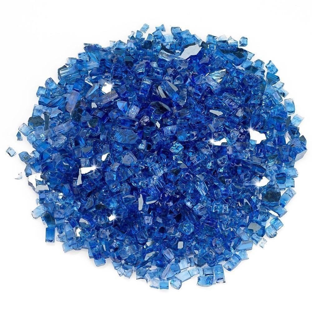 """1/2"""" Cobalt Blue Reflective Fire Glass Top"""