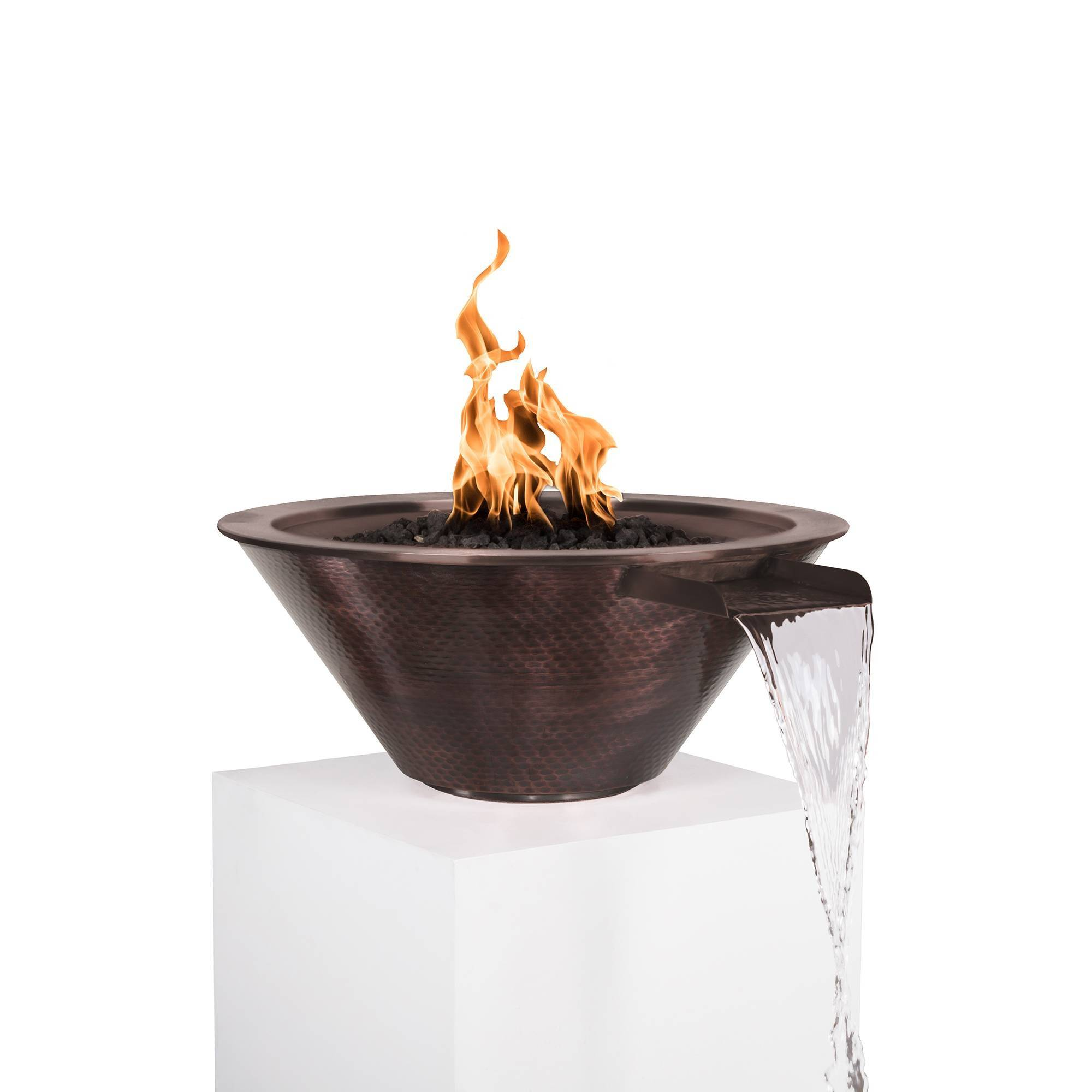 "24"" Cazo Copper Pool Fire Bowl"