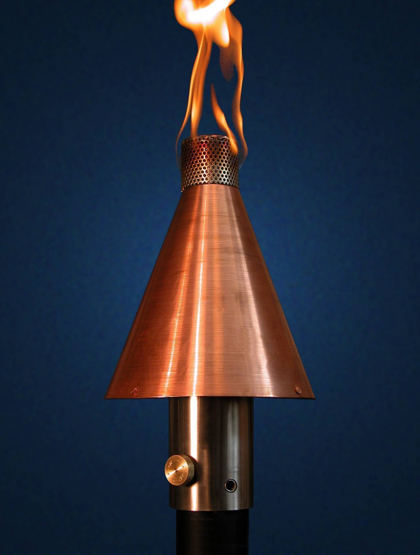 Tiki Torch Automated Remote Controlled Copper Cone