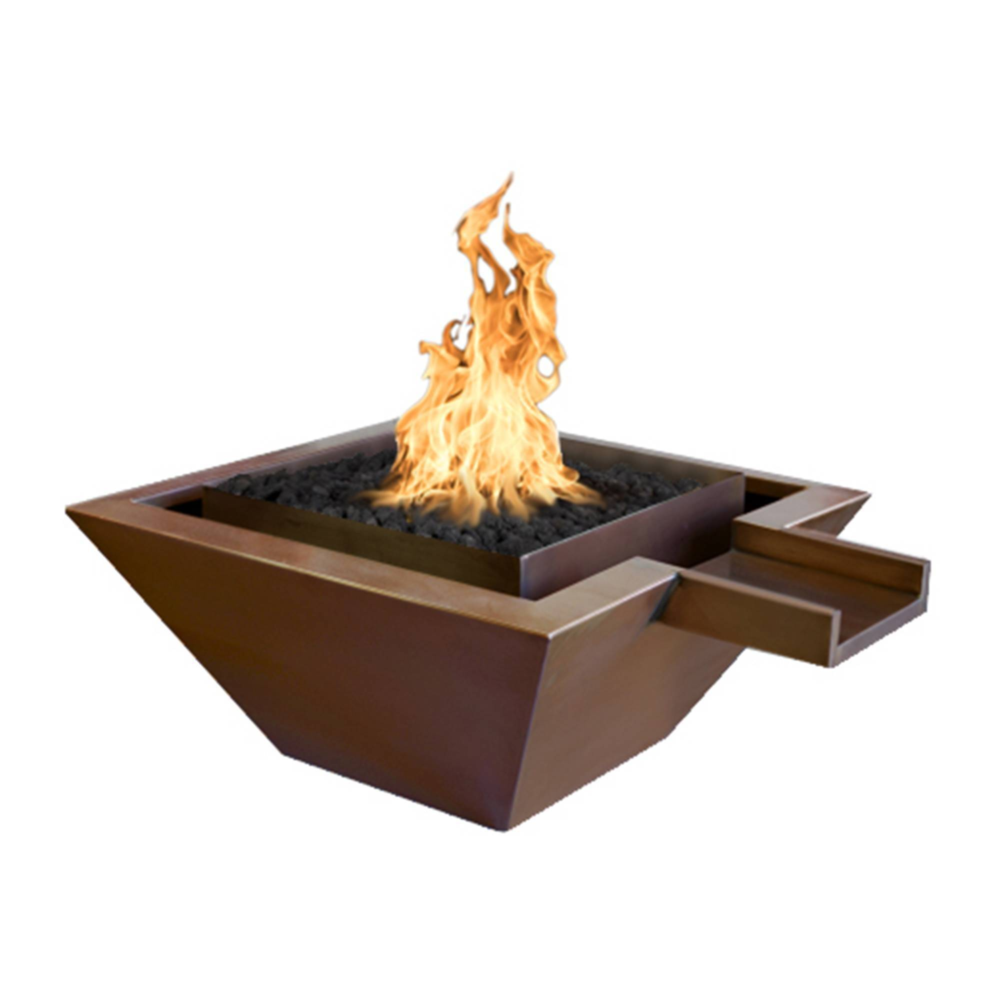 "30"" x 30"" Florence Copper Pool Fire Bowl"