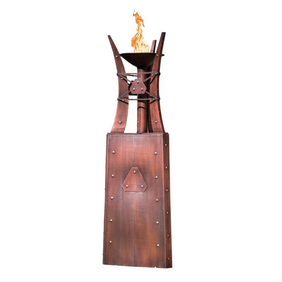 "87"" Bastille Fire Tower - Hammered Copper"