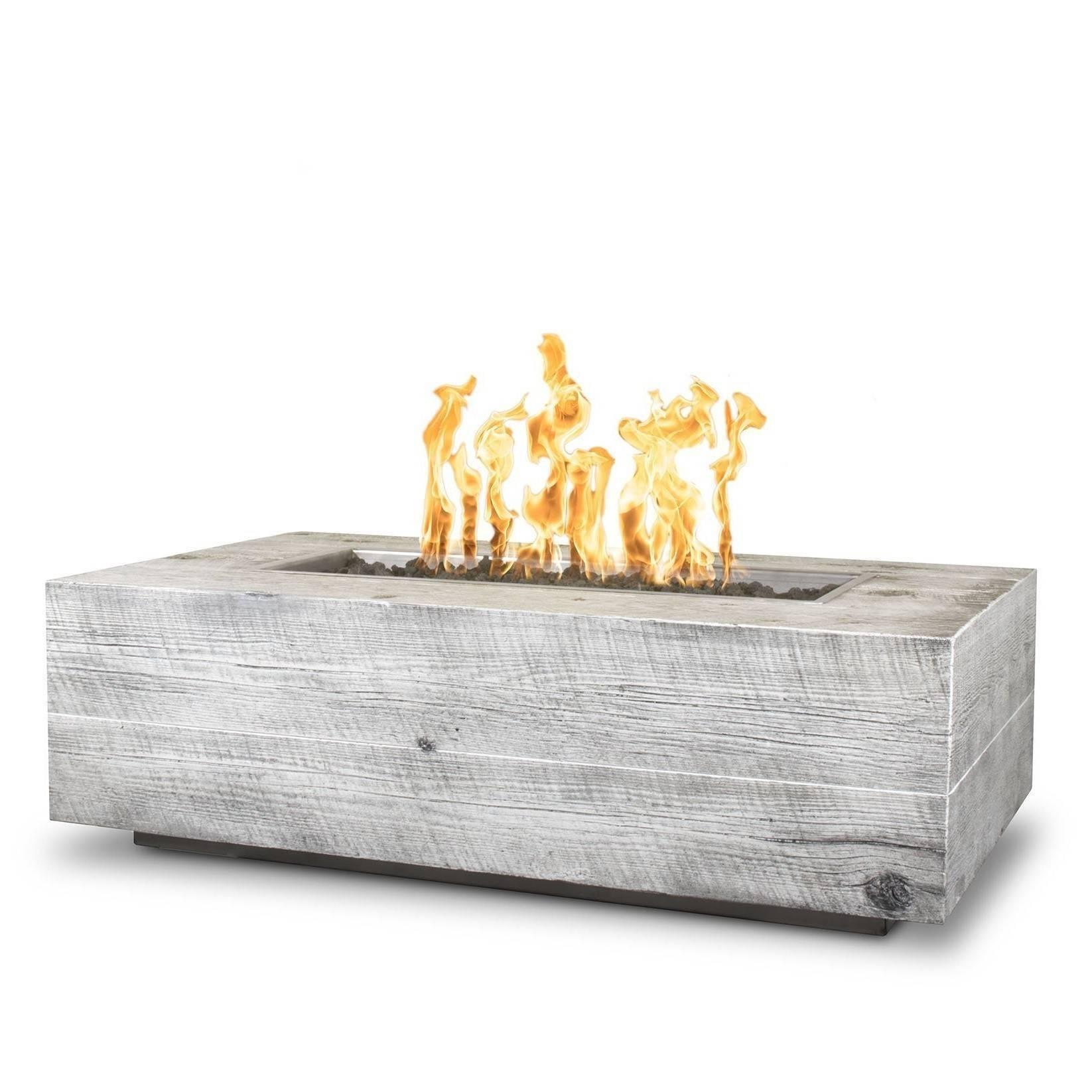 "48"" Coronado Wood Grain Concrete Fire Pit Table - Ivory"