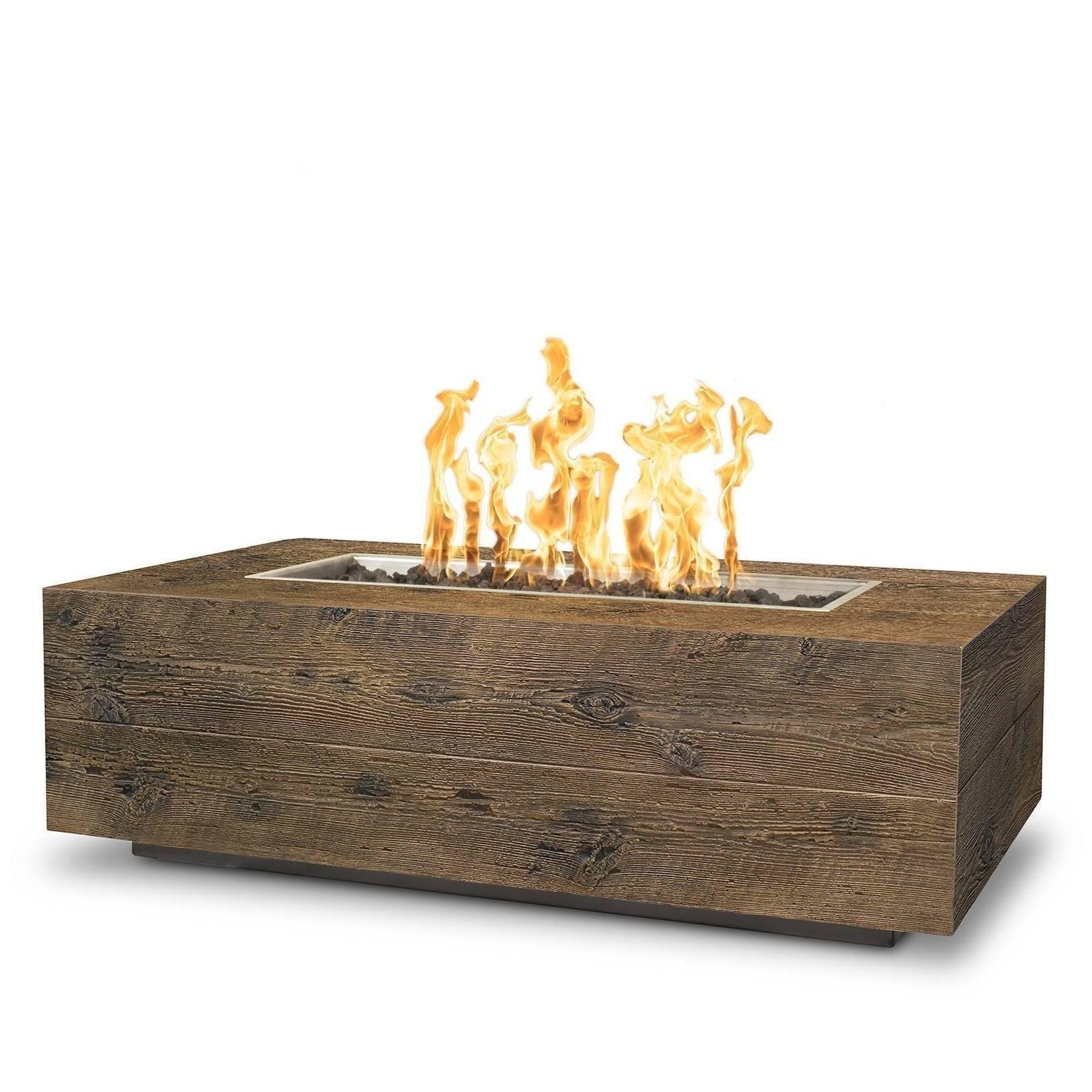 "48"" Coronado Wood Grain Concrete Fire Pit Table - Oak"