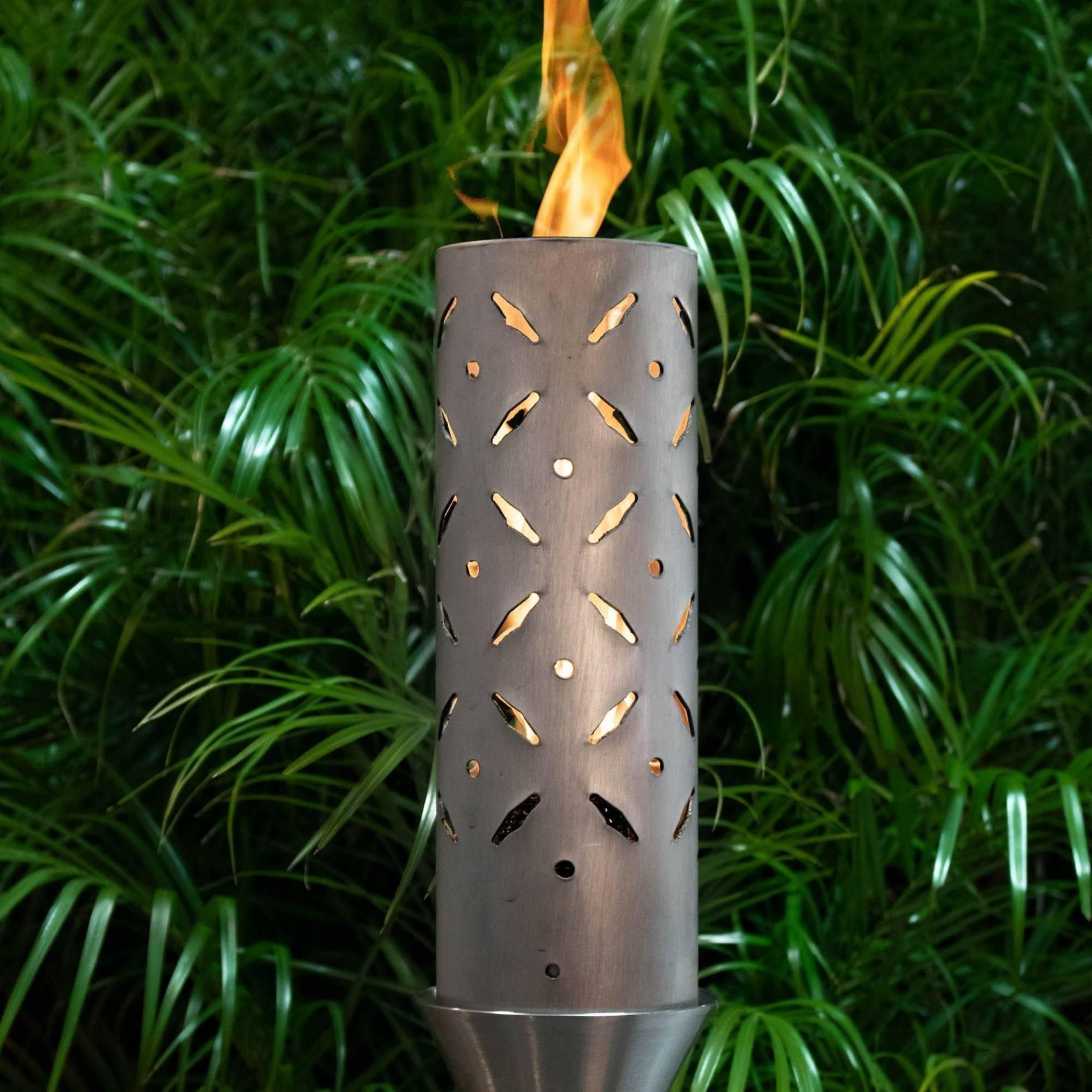 Diamond Plate Gas Tiki Torch