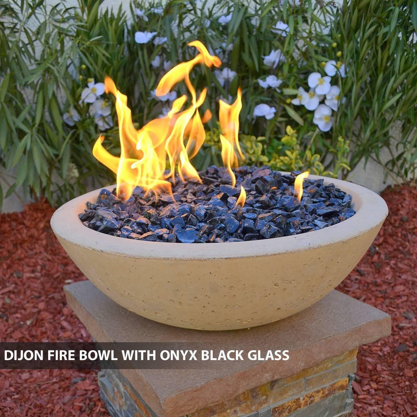 Concrete Fire Bowl Dijon w/ Black