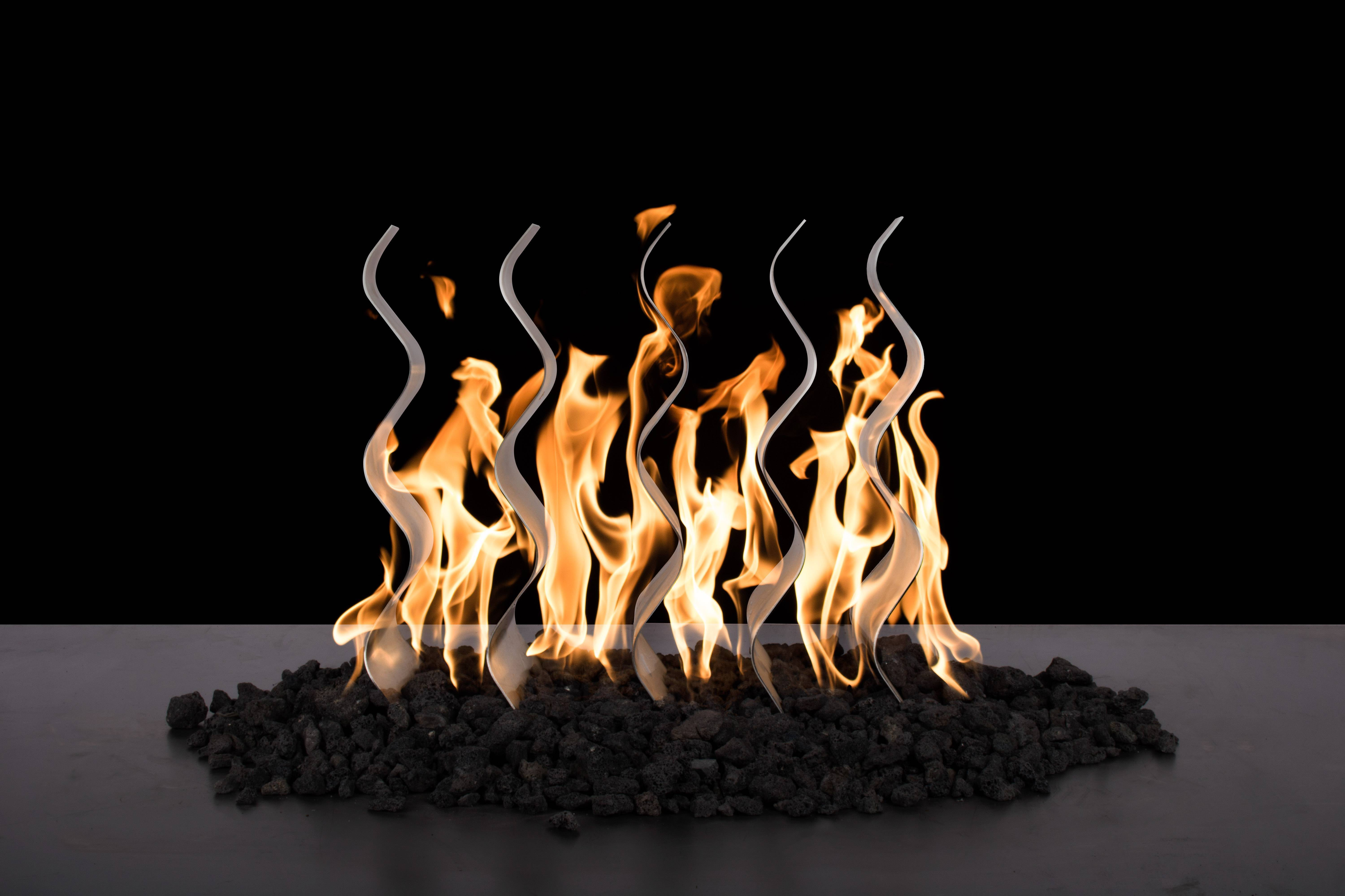 Stainless Steel Fire Waves - Includes Burner | Starting at $1,075