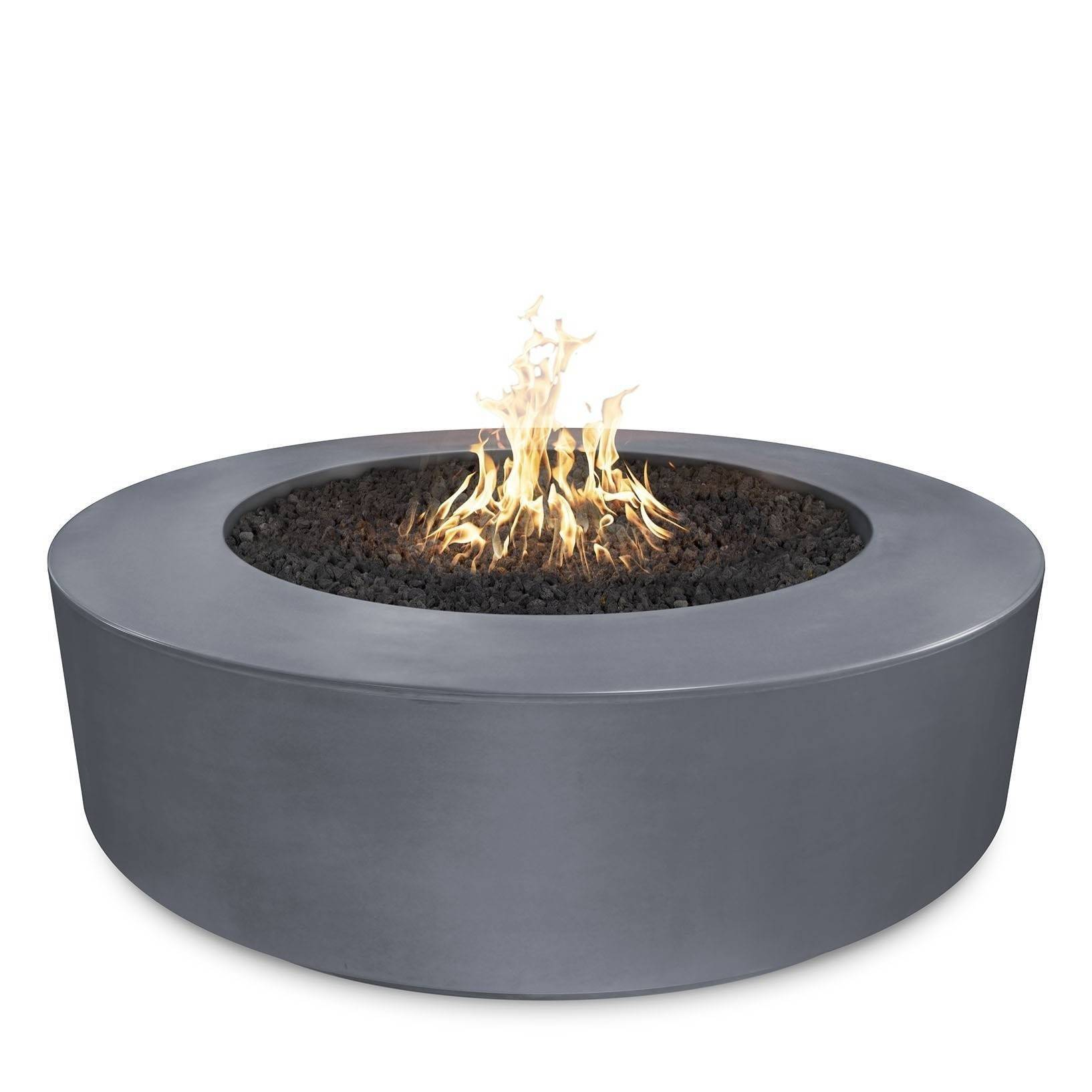 "54"" Florence Concrete Fire Pit Table 20"" Tall - Grey"