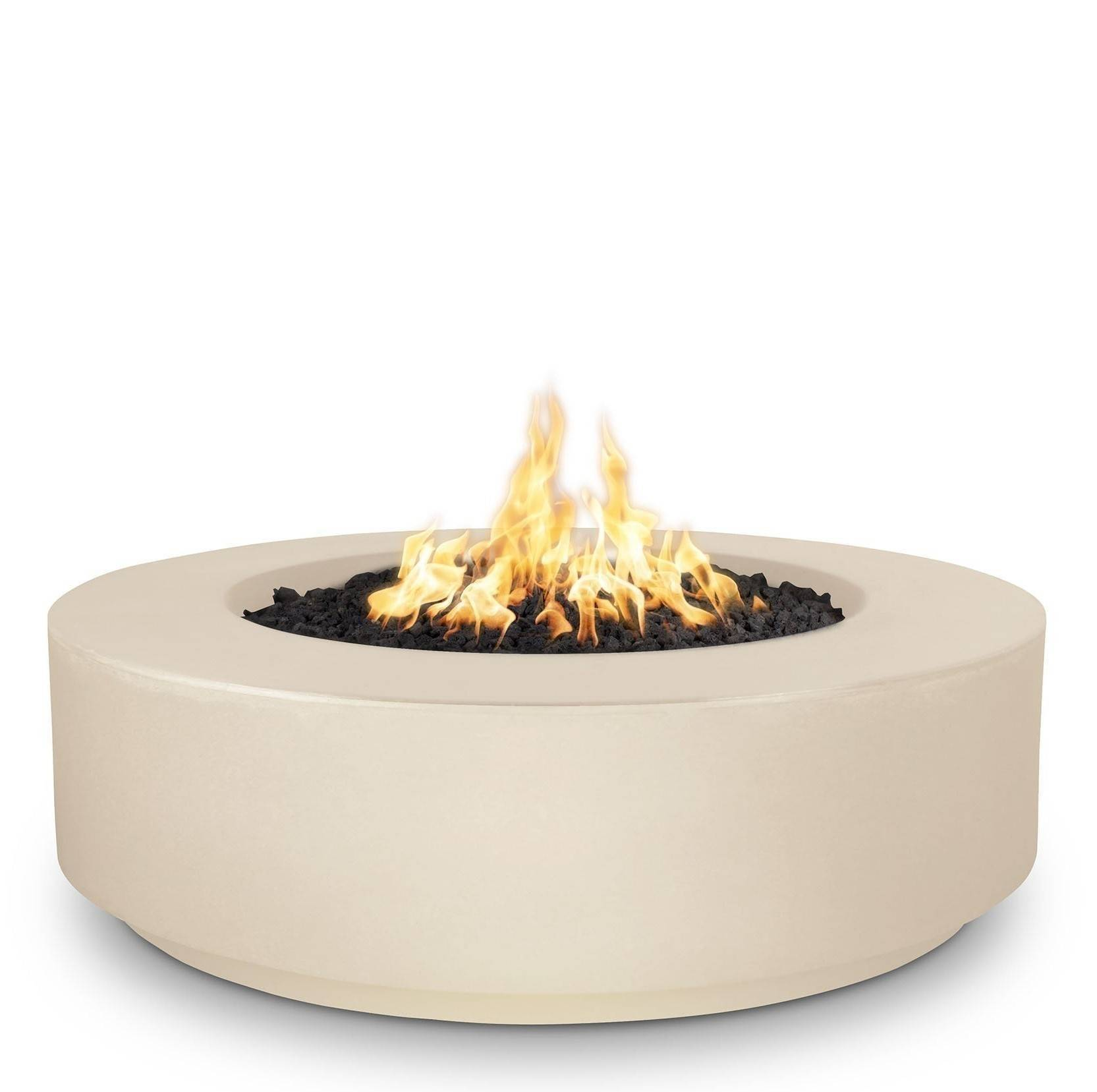 """42"""" Florence Concrete Fire Pit Table 12"""" Tall - Vanilla"""