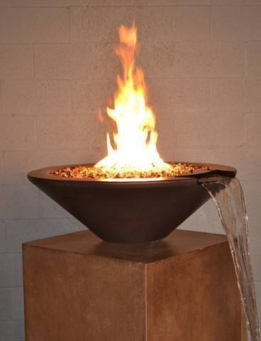 "31"" Essex Fire and Water Bowl - Beechwood"