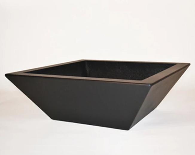 """36"""" Kona Modern Square Planter - Dark Walnut"""