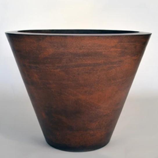 "30"" Geo Planter Bowl - Burnt Terra Cotta"