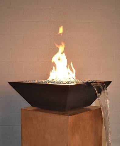 "30"" Kona Pool Fire Bowl - Dark Walnut"