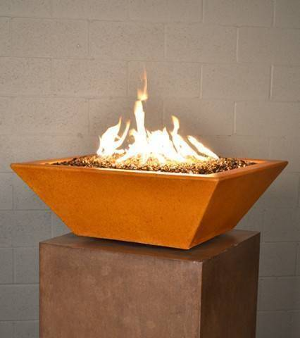 "30"" Kona Square Fire Bowl - Deep Amber"
