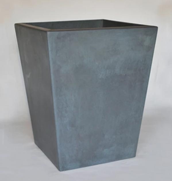 "20"" Kona Tall Precast Concrete Planter - English Lead"