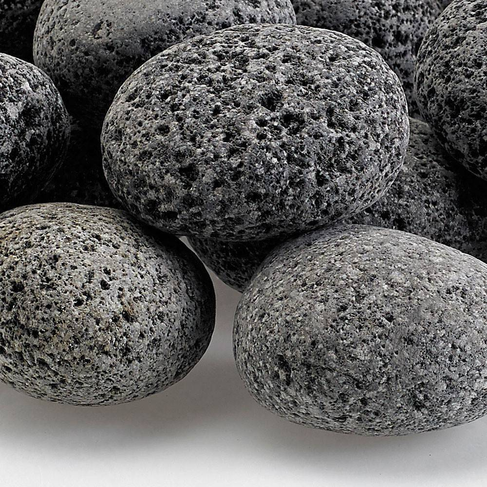 "Medium Tumbled Lava Stone (1"" - 2"") - 10 lb. Bags"