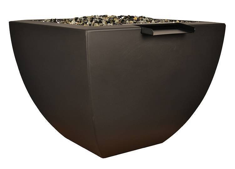 "30"" Legacy Tall Fire and Water Bowl - Dark Walnut"